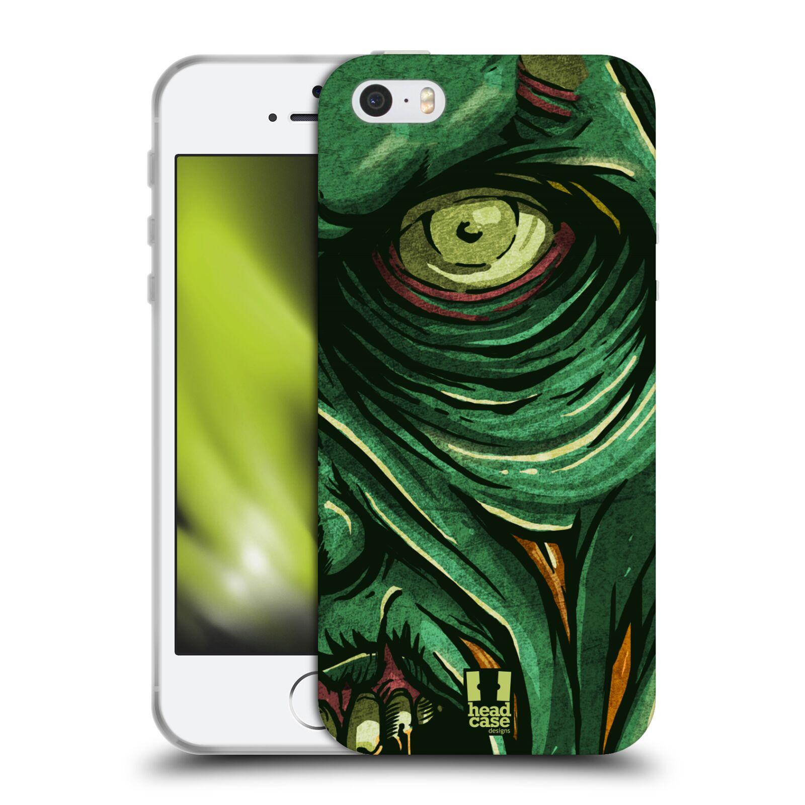 Silikonové pouzdro na mobil Apple iPhone 5, 5S, SE - Head Case - ZOMBIE TVÁŘ