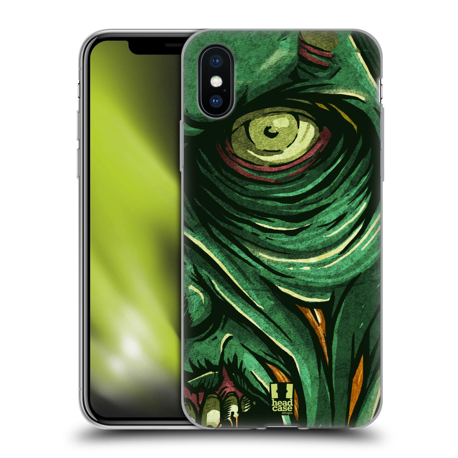Silikonové pouzdro na mobil Apple iPhone XS - Head Case - ZOMBIE TVÁŘ