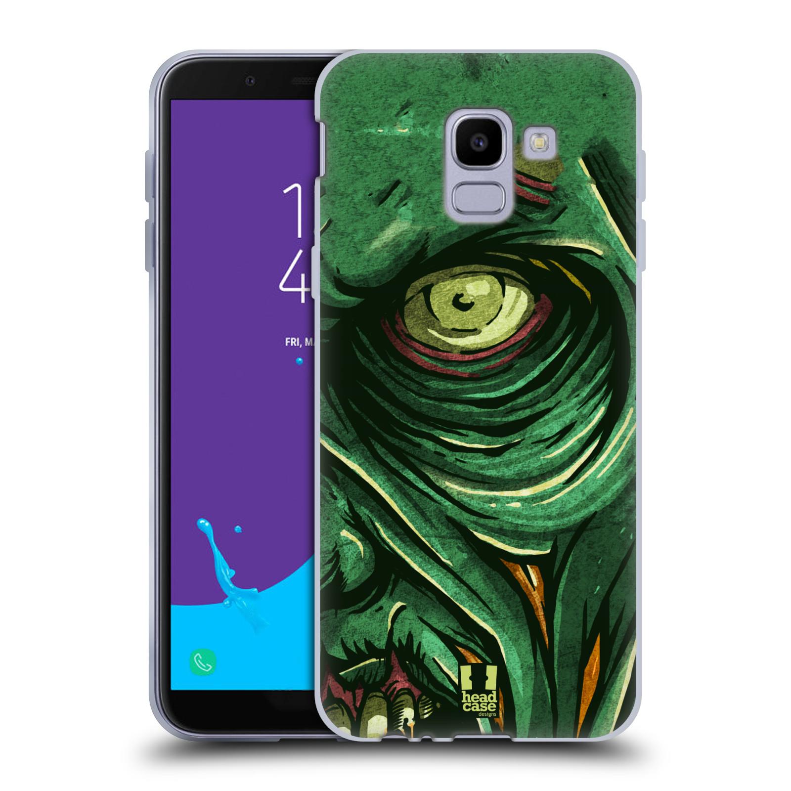 Silikonové pouzdro na mobil Samsung Galaxy J6 (2018) - Head Case - ZOMBIE TVÁŘ