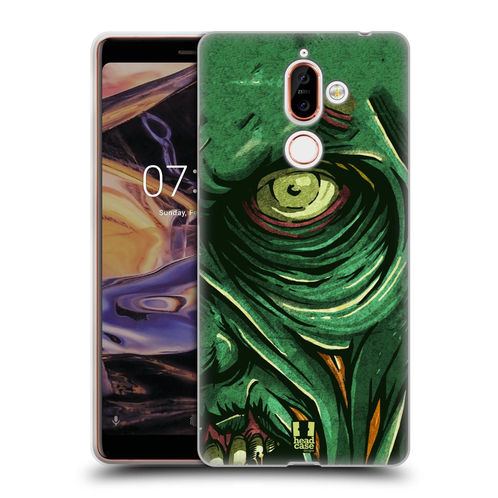 Silikonové pouzdro na mobil Nokia 7 Plus - Head Case - ZOMBIE TVÁŘ