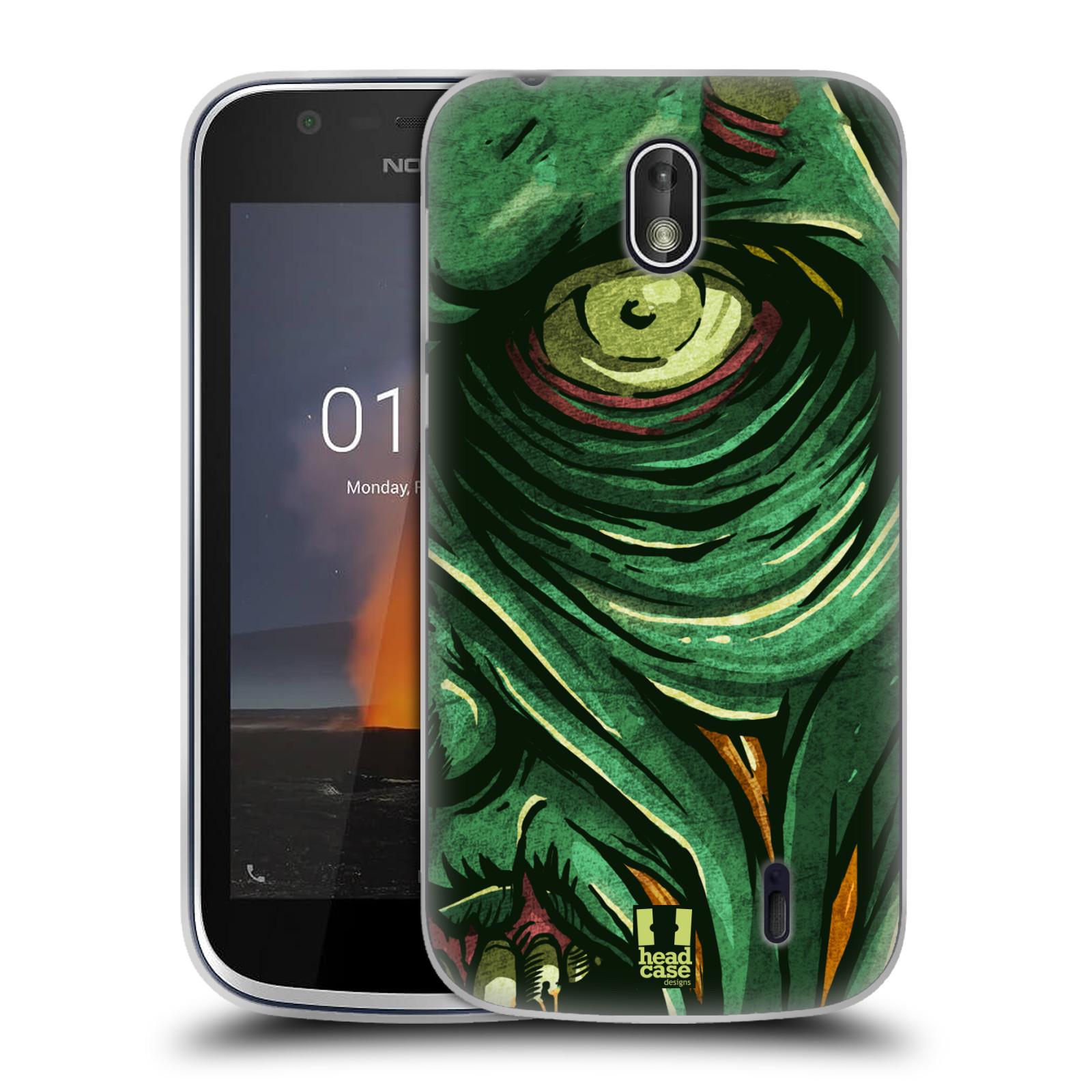 Silikonové pouzdro na mobil Nokia 1 - Head Case - ZOMBIE TVÁŘ