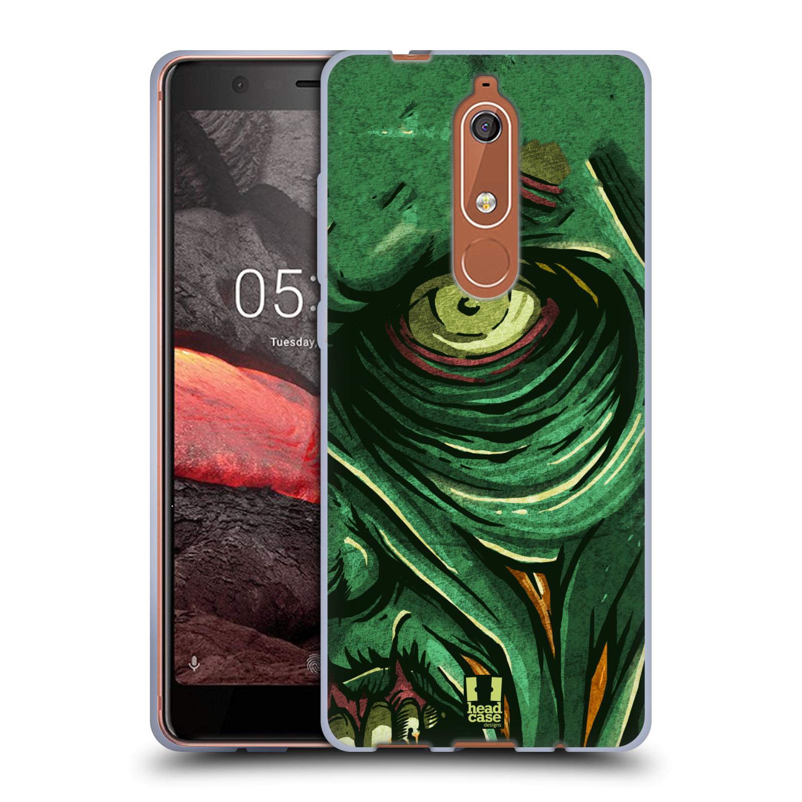 Silikonové pouzdro na mobil Nokia 5.1 - Head Case - ZOMBIE TVÁŘ