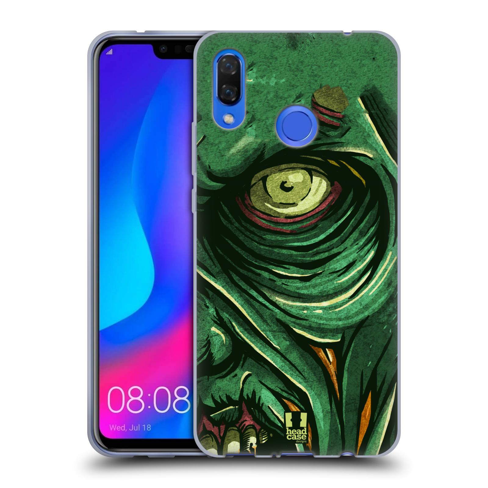 Silikonové pouzdro na mobil Huawei Nova 3 - Head Case - ZOMBIE TVÁŘ