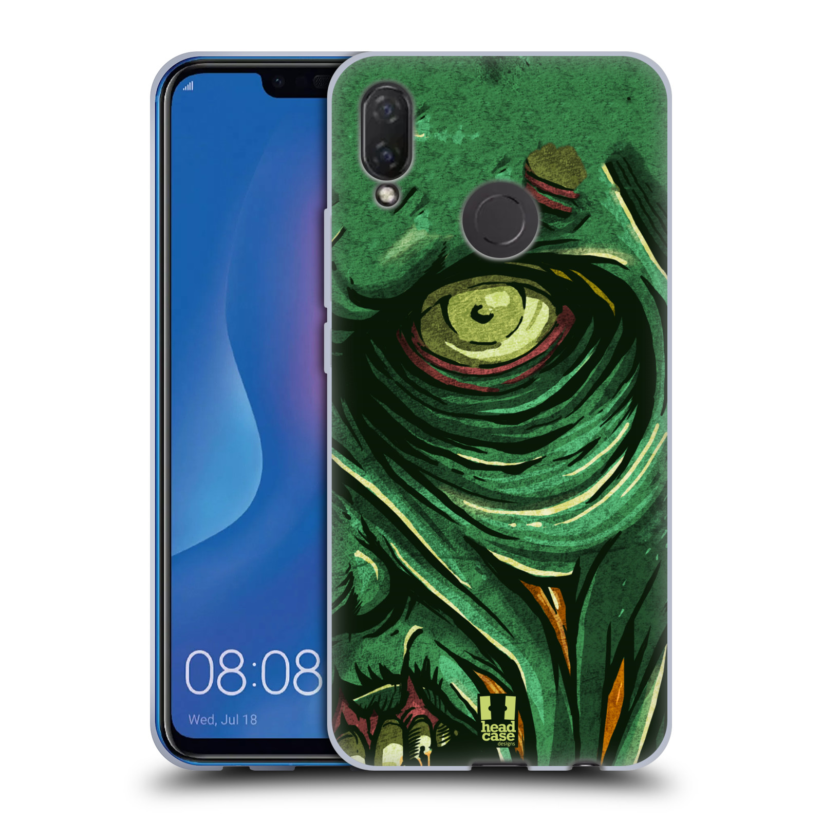 Silikonové pouzdro na mobil Huawei Nova 3i - Head Case - ZOMBIE TVÁŘ