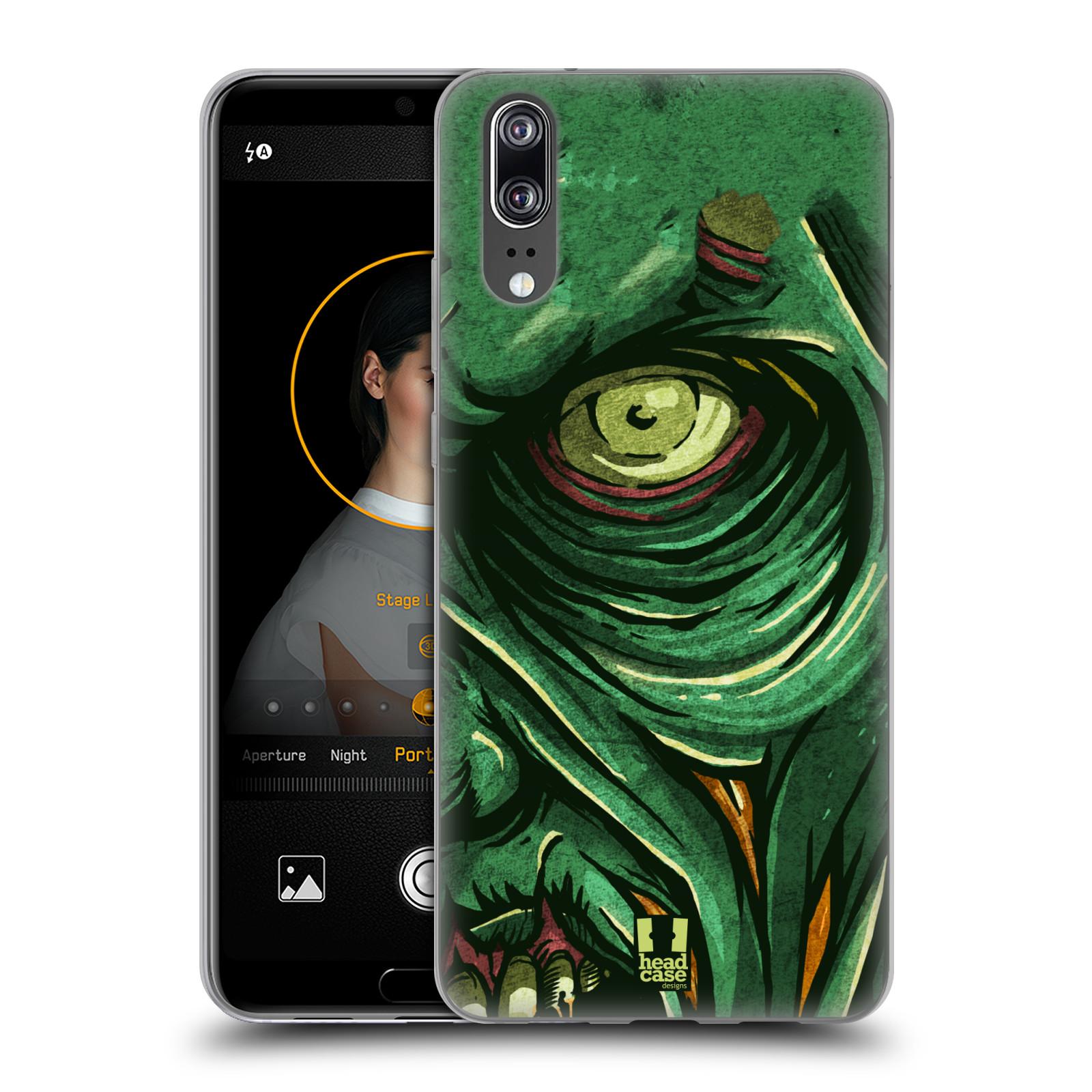Silikonové pouzdro na mobil Huawei P20 - Head Case - ZOMBIE TVÁŘ