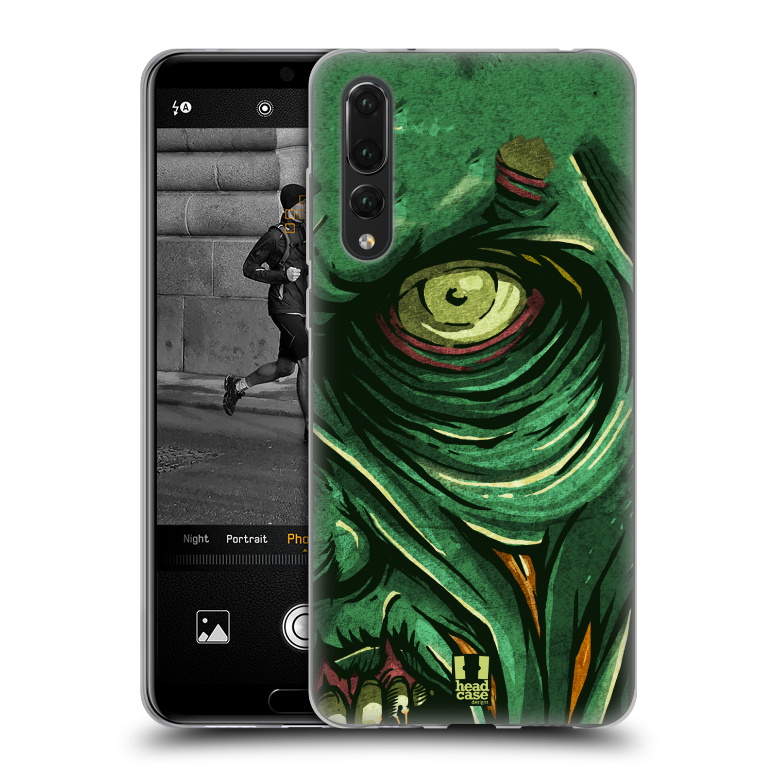 Silikonové pouzdro na mobil Huawei P20 Pro - Head Case - ZOMBIE TVÁŘ