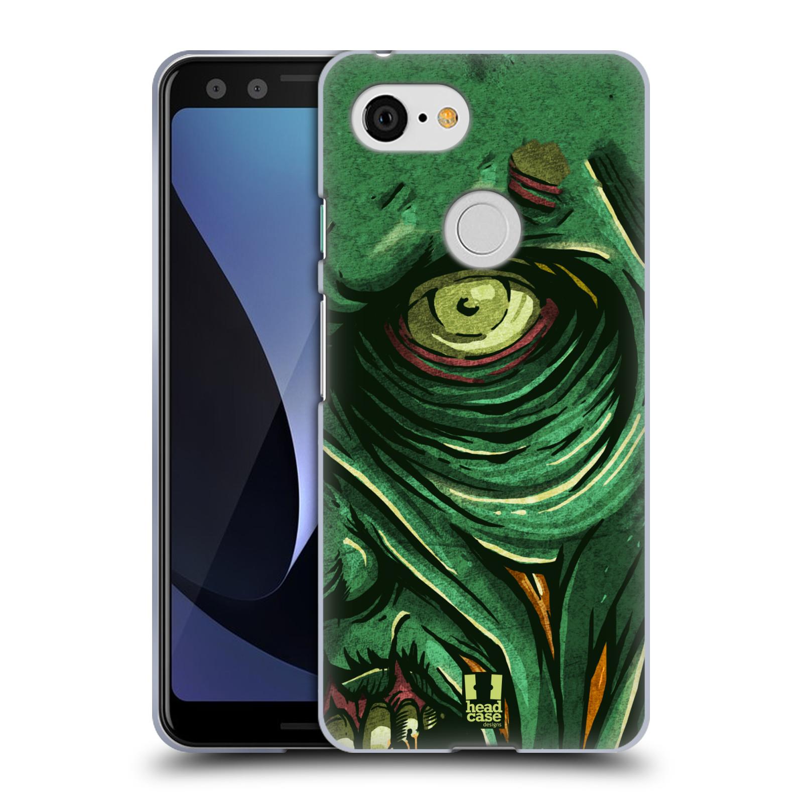 Silikonové pouzdro na mobil Google Pixel 3 - Head Case - ZOMBIE TVÁŘ