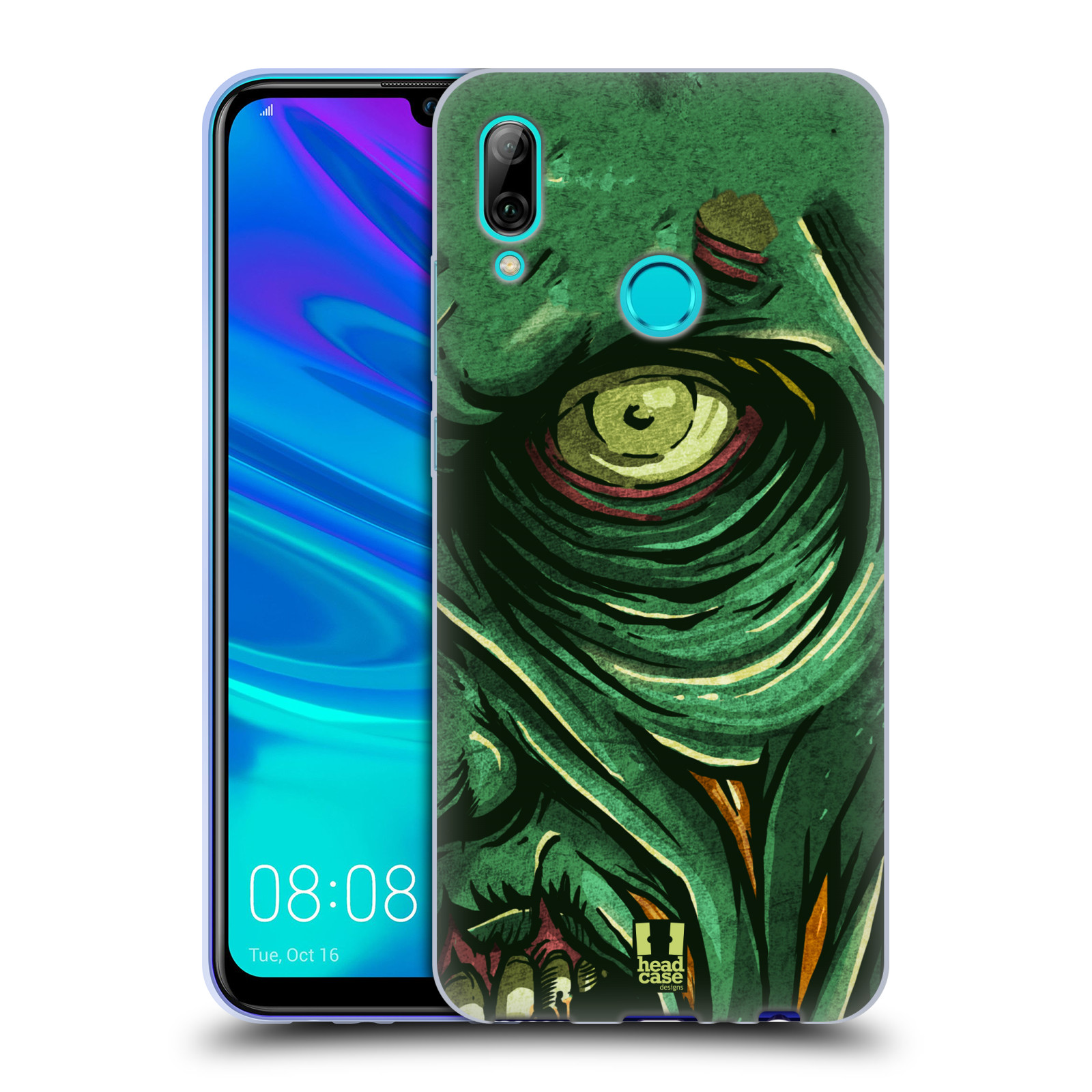 Silikonové pouzdro na mobil Huawei P Smart (2019) - Head Case - ZOMBIE TVÁŘ