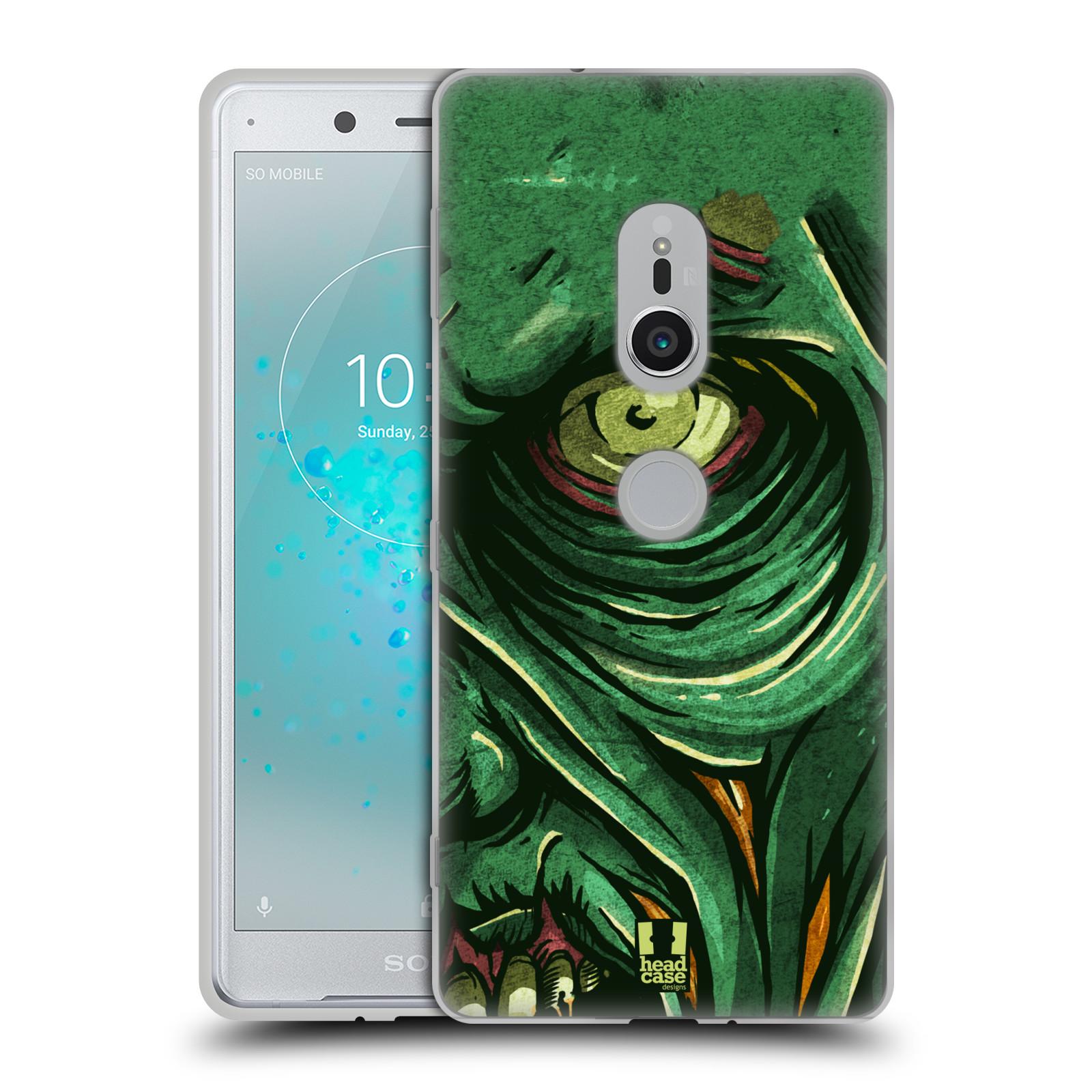 Silikonové pouzdro na mobil Sony Xperia XZ2 - Head Case - ZOMBIE TVÁŘ