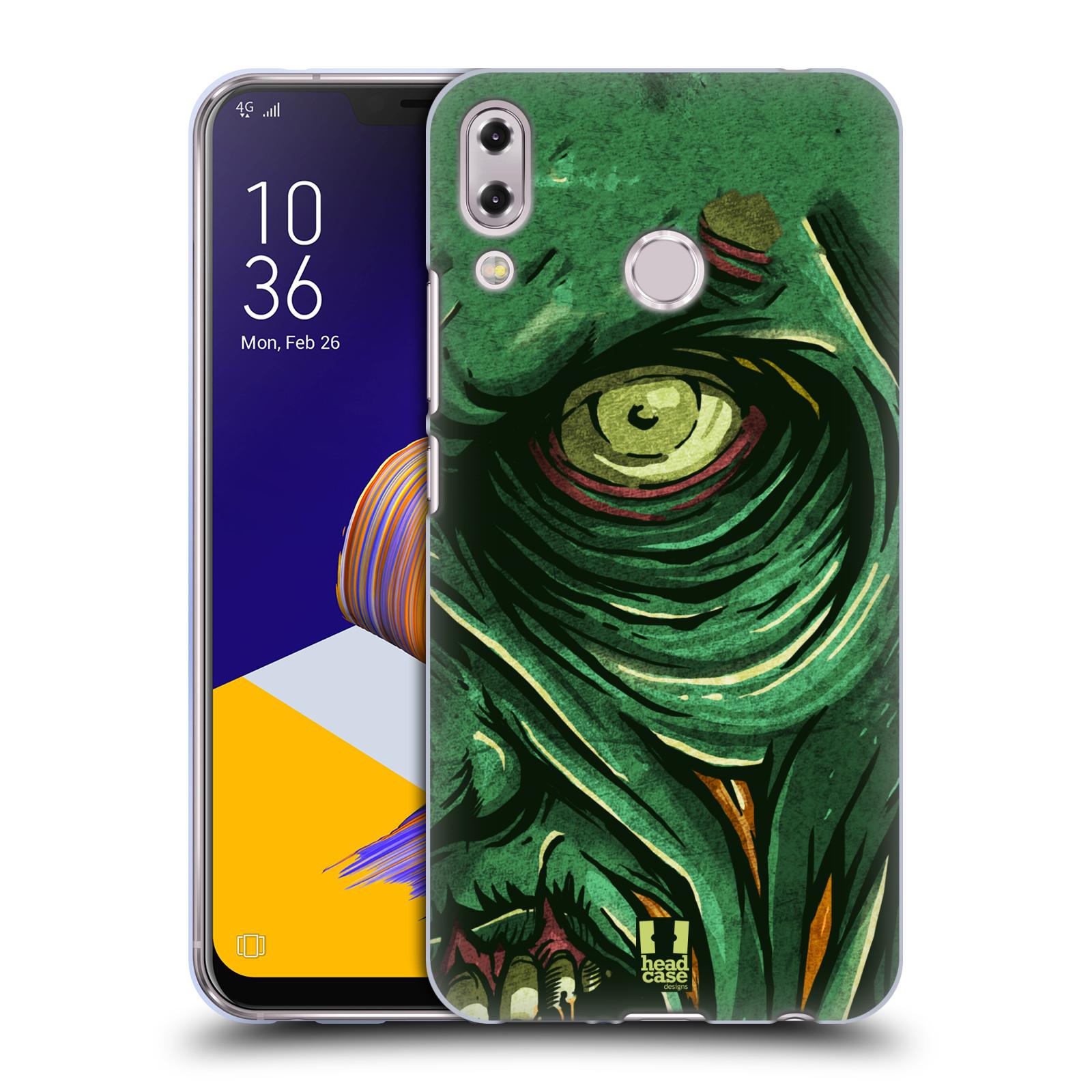 Silikonové pouzdro na mobil Asus Zenfone 5z ZS620KL - Head Case - ZOMBIE TVÁŘ
